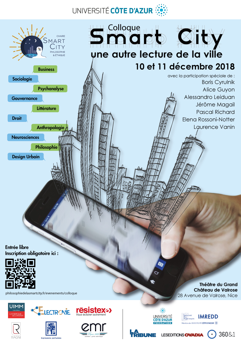 Affiche colloque Smart City: une autre lecture de la ville